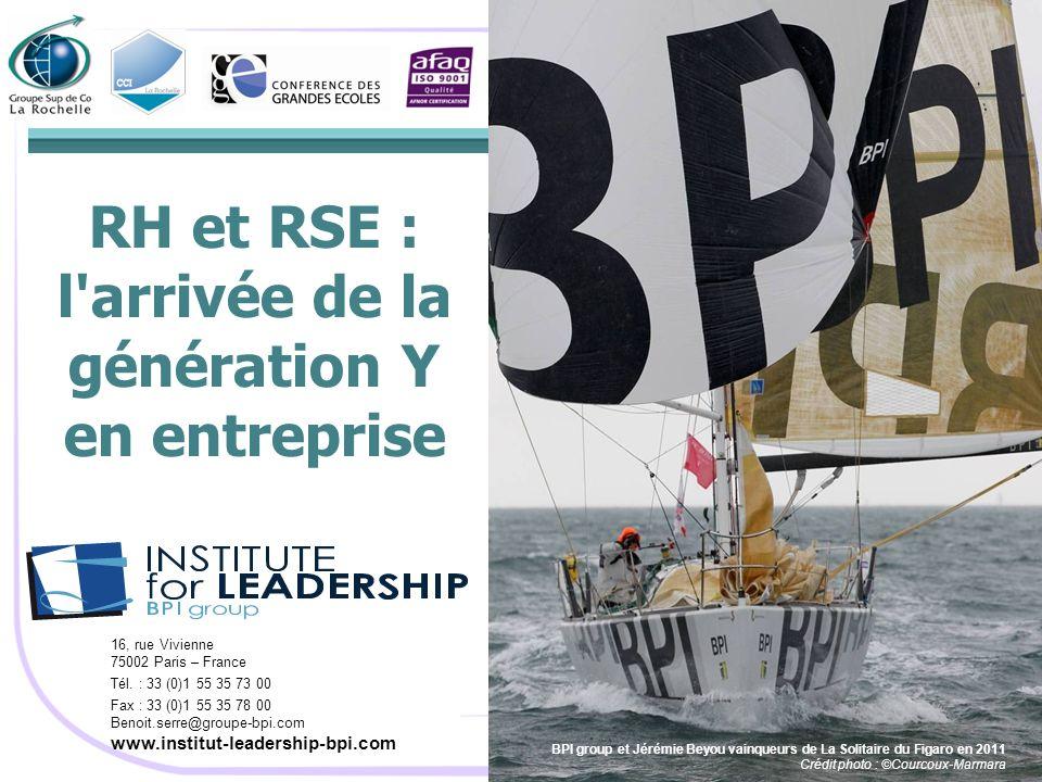 RH et RSE : l arrivée de la génération Y en entreprise