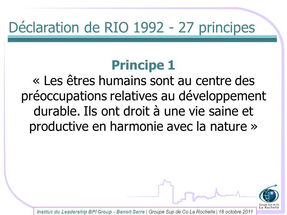 Déclaration de RIO 1992 - 27 principes