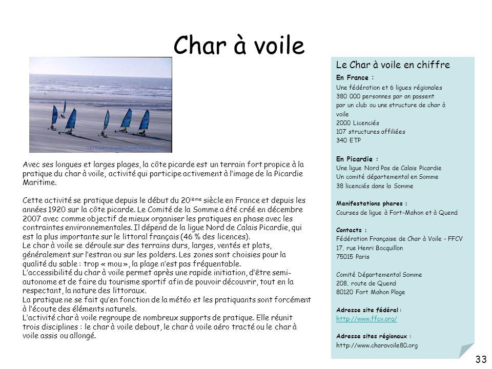 Char à voile Le Char à voile en chiffre 33 30/03/2017