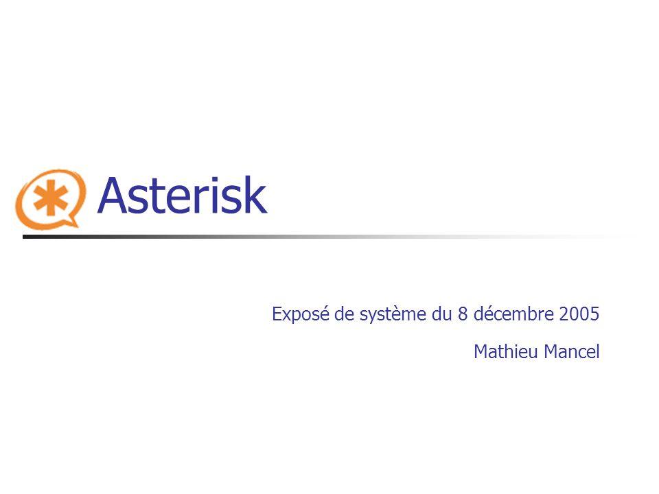 Exposé de système du 8 décembre 2005 Mathieu Mancel
