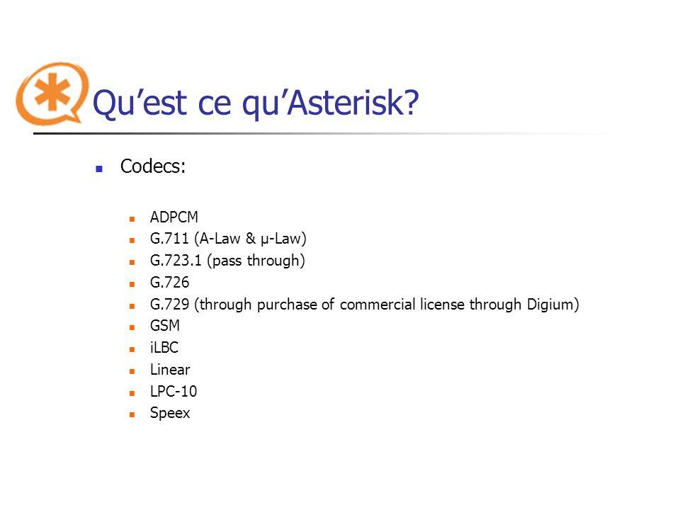 Qu'est ce qu'Asterisk Codecs: ADPCM G.711 (A-Law & μ-Law)