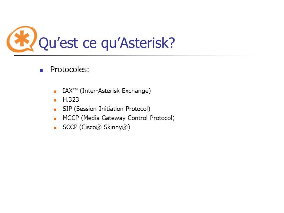 Qu'est ce qu'Asterisk Protocoles: IAX™ (Inter-Asterisk Exchange)