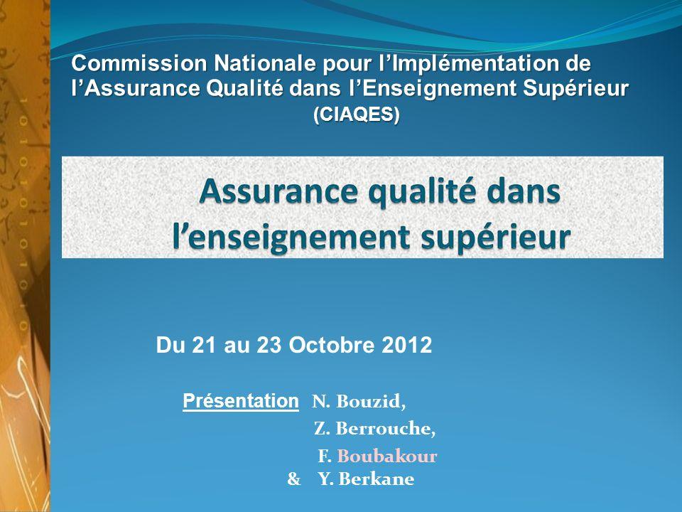 Commission Nationale pour l'Implémentation de l'Assurance Qualité dans l'Enseignement Supérieur