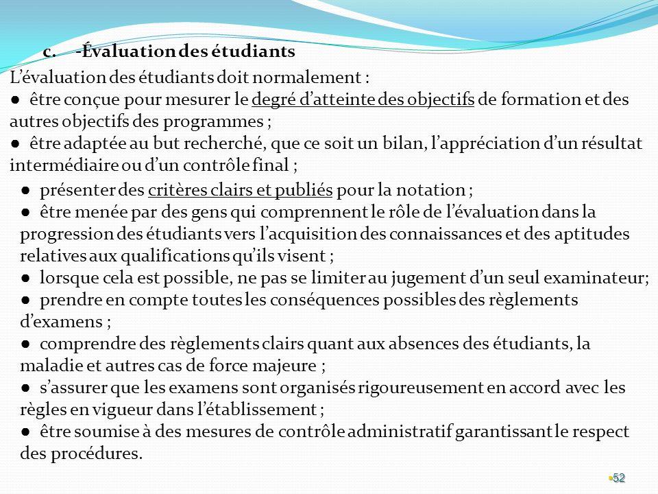 -Évaluation des étudiants
