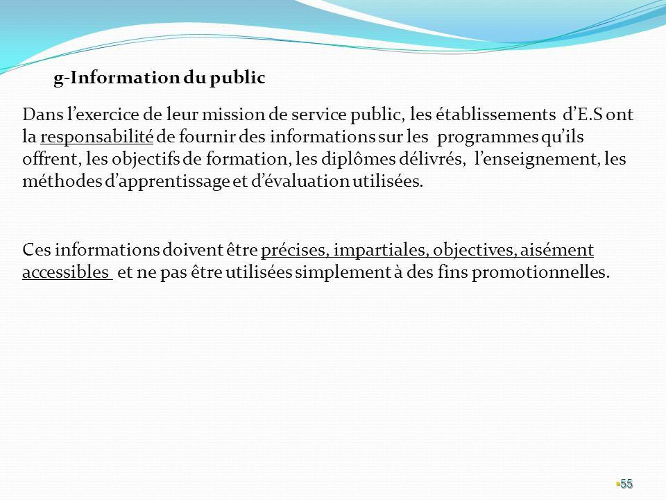 g-Information du public