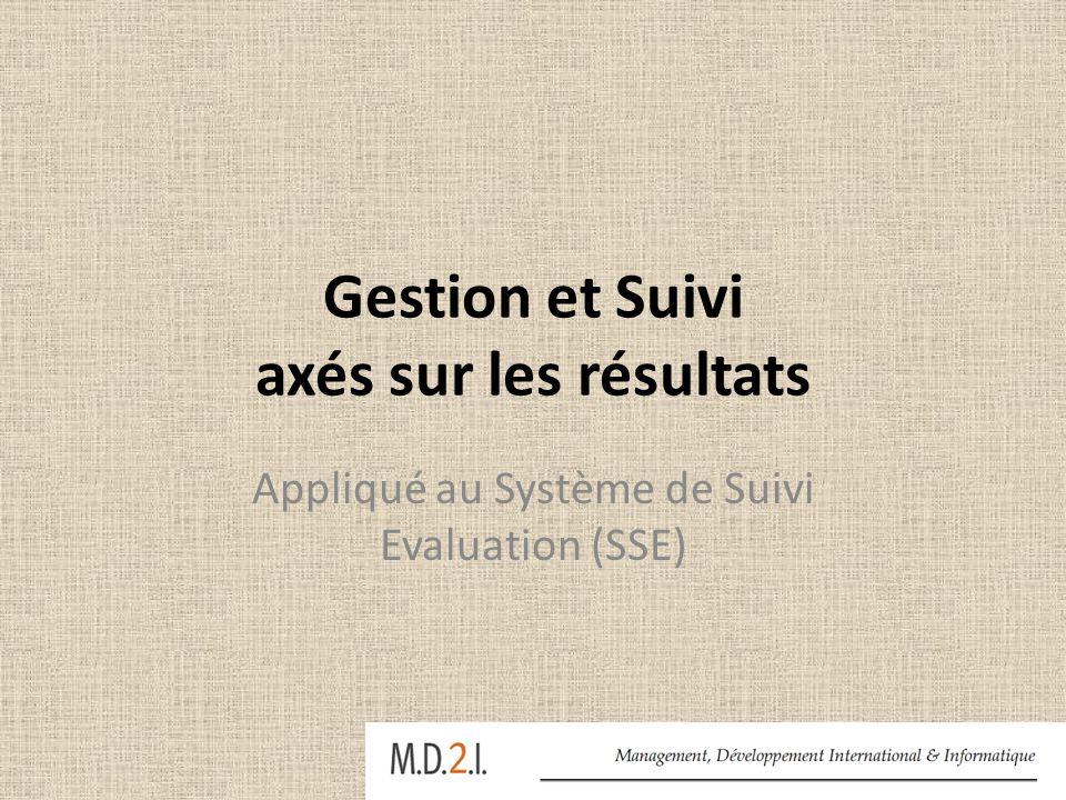 Gestion et Suivi axés sur les résultats