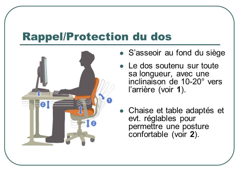 Rappel/Protection du dos