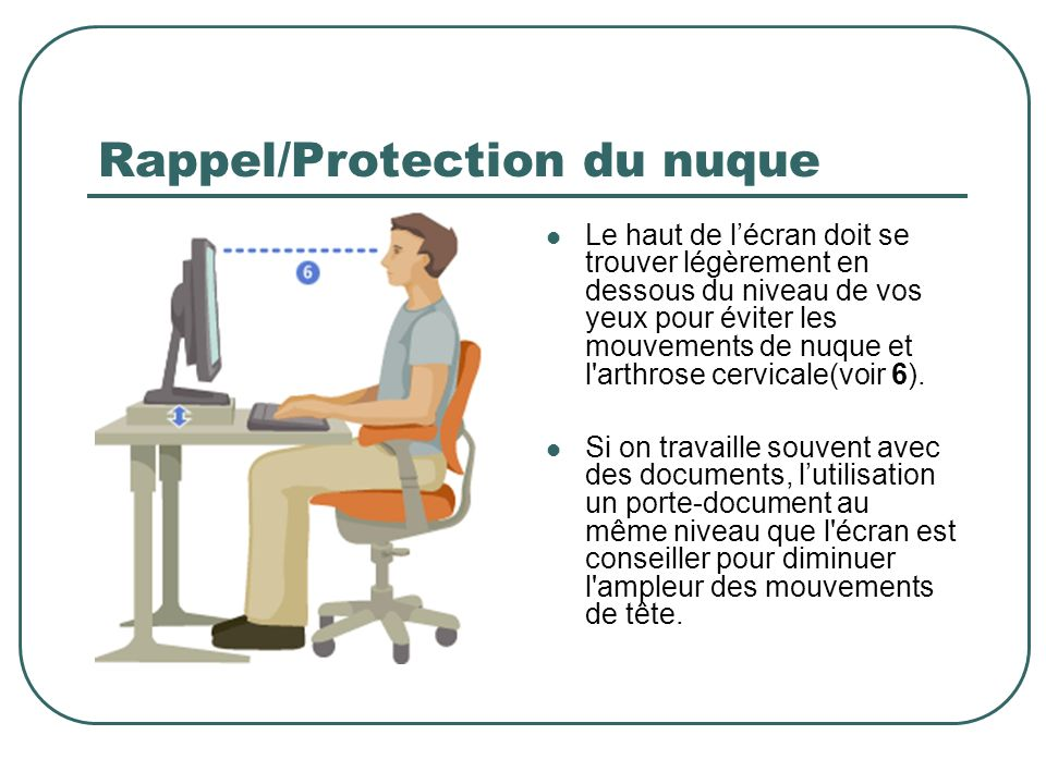 Rappel/Protection du nuque