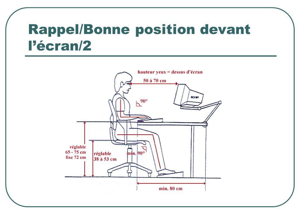 Rappel/Bonne position devant l'écran/2
