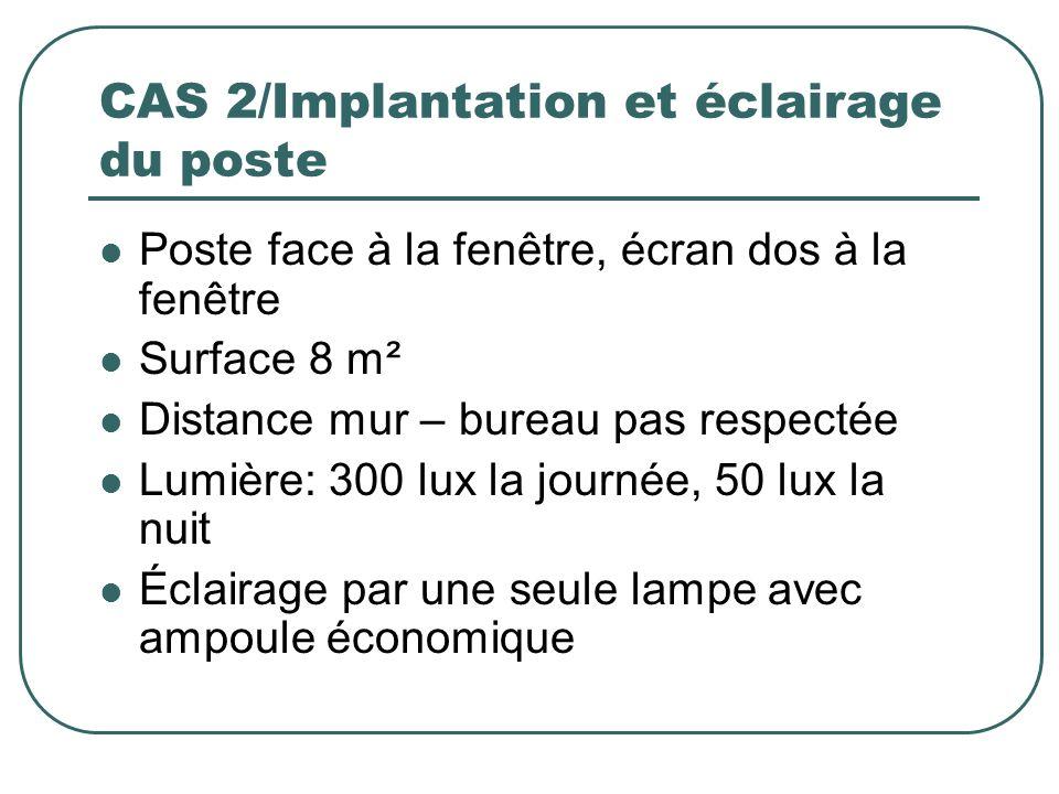 CAS 2/Implantation et éclairage du poste