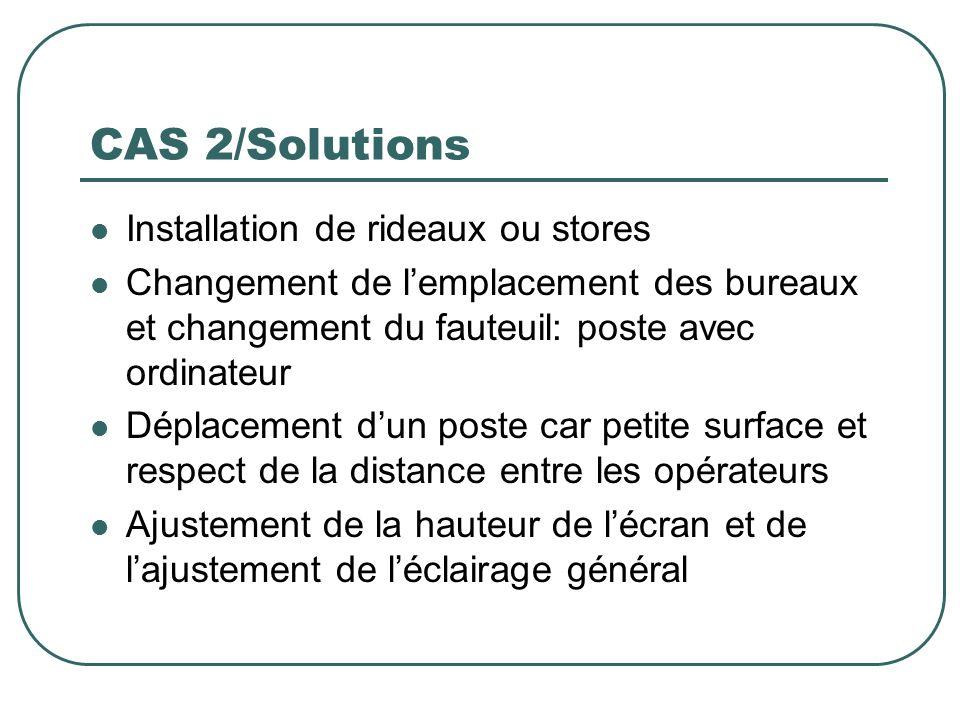 CAS 2/Solutions Installation de rideaux ou stores