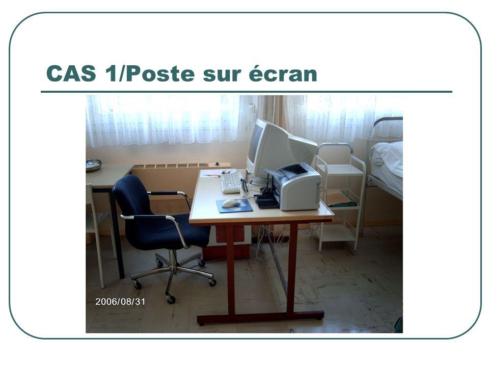 CAS 1/Poste sur écran