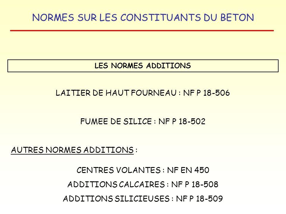 LAITIER DE HAUT FOURNEAU : NF P 18-506