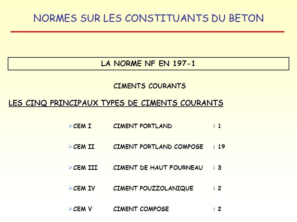 LES CINQ PRINCIPAUX TYPES DE CIMENTS COURANTS