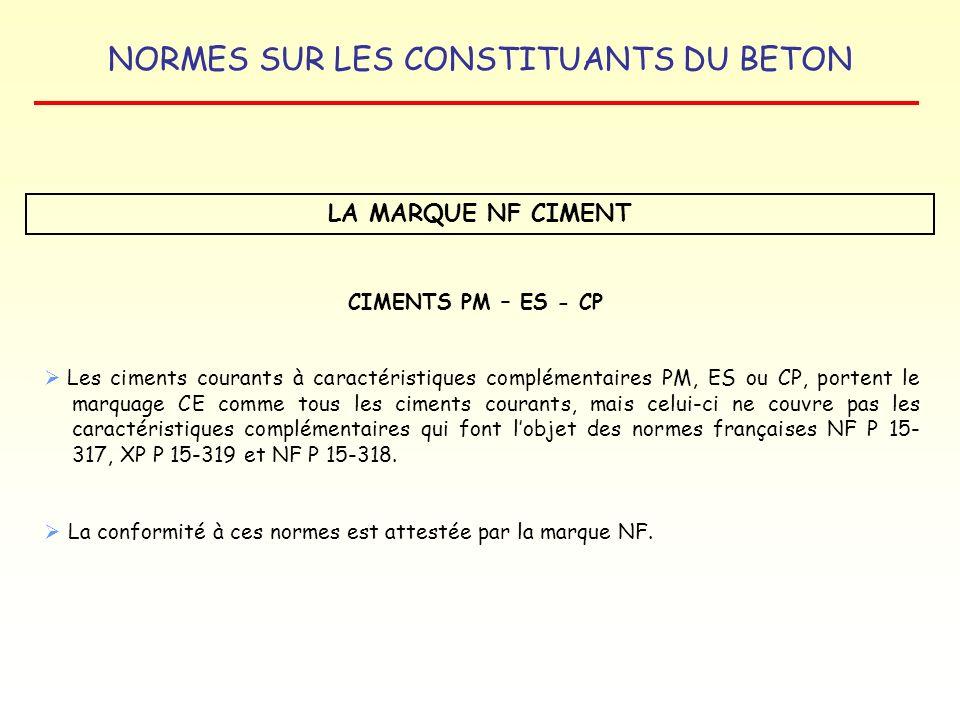 LA MARQUE NF CIMENT CIMENTS PM – ES - CP