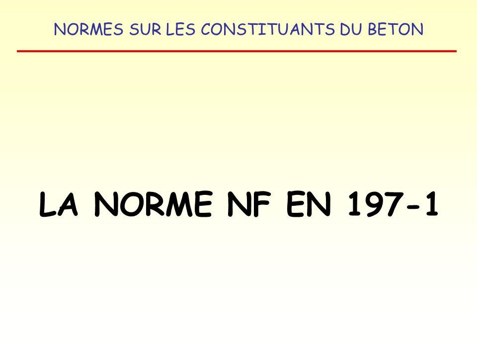 LA NORME NF EN 197-1
