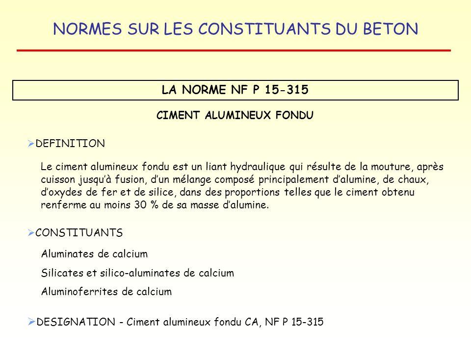 CIMENT ALUMINEUX FONDU