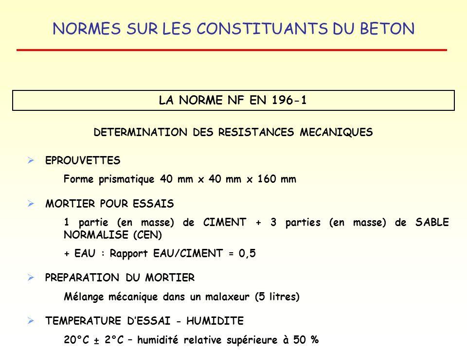 DETERMINATION DES RESISTANCES MECANIQUES