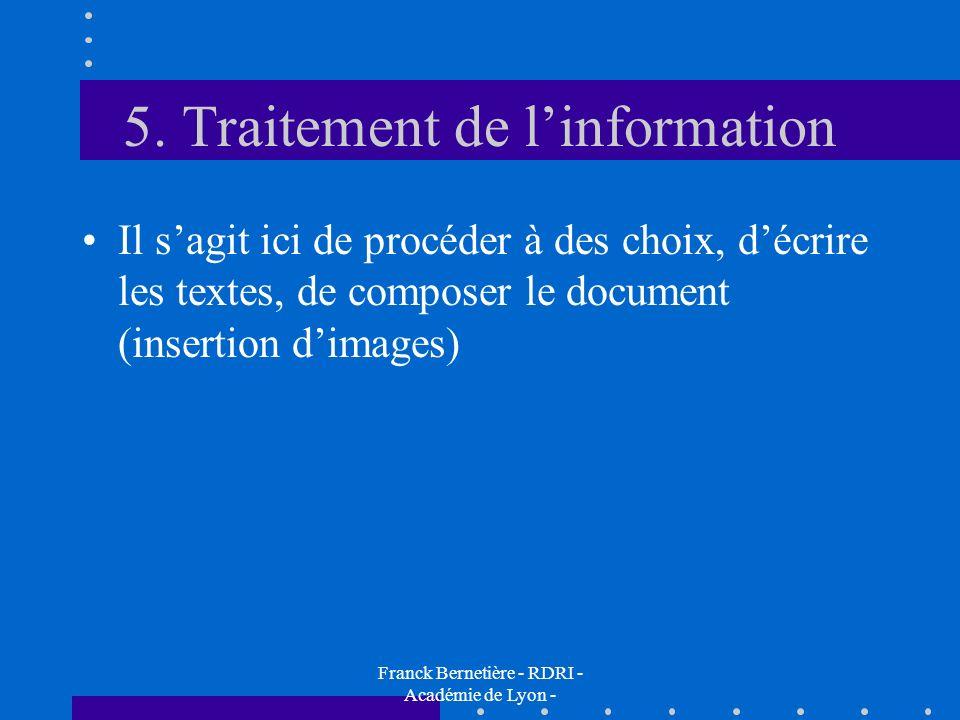 5. Traitement de l'information