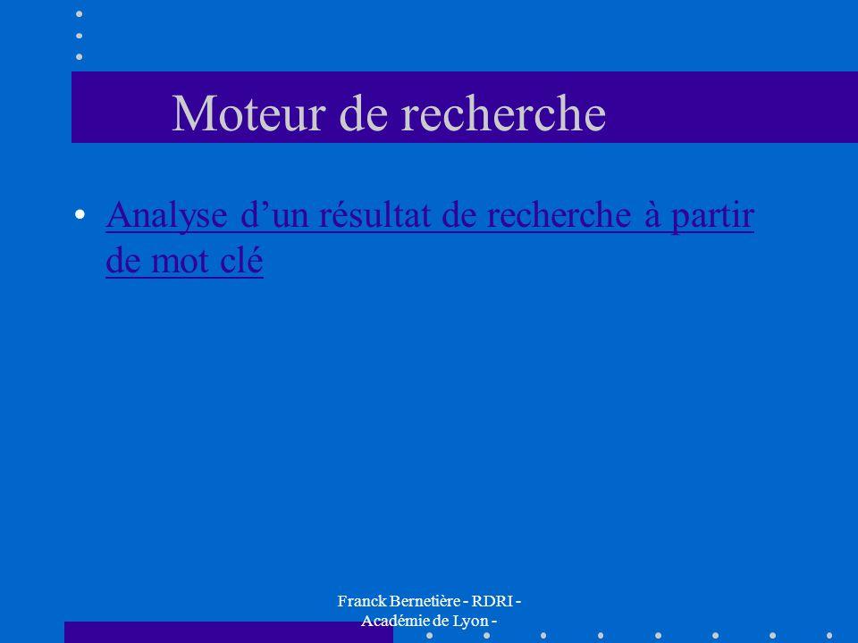 Franck Bernetière - RDRI - Académie de Lyon -