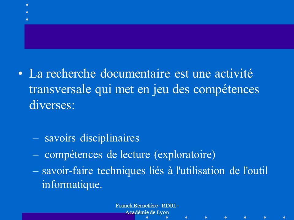 Franck Bernetière - RDRI - Académie de Lyon