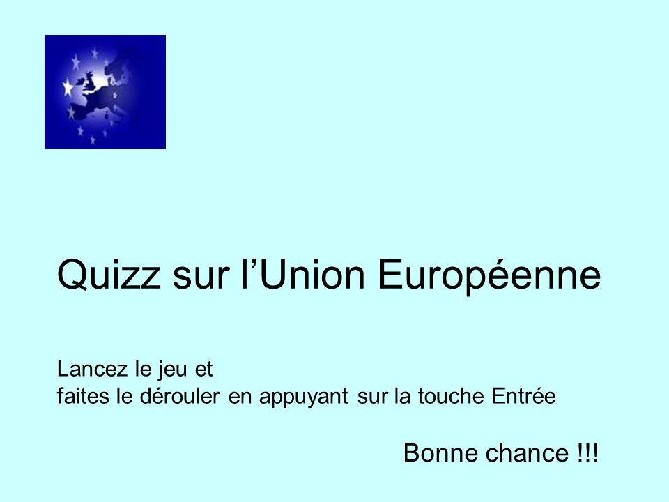 Quizz sur l'Union Européenne