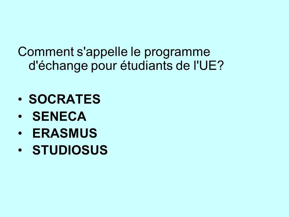 Comment s appelle le programme d échange pour étudiants de l UE