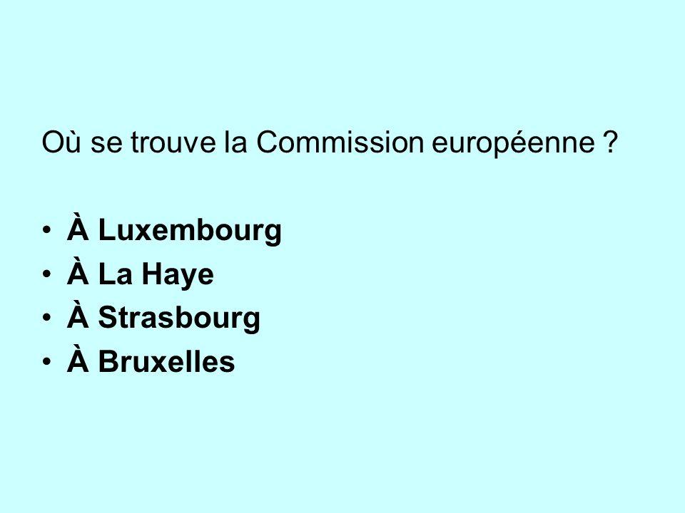 Où se trouve la Commission européenne