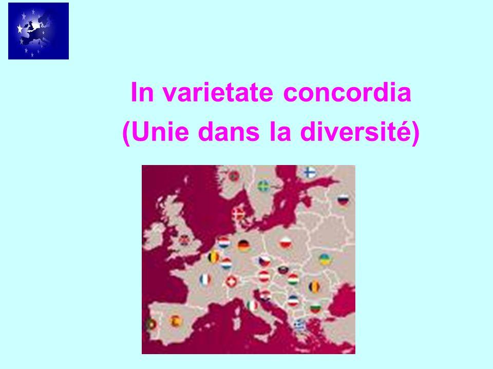 In varietate concordia (Unie dans la diversité)