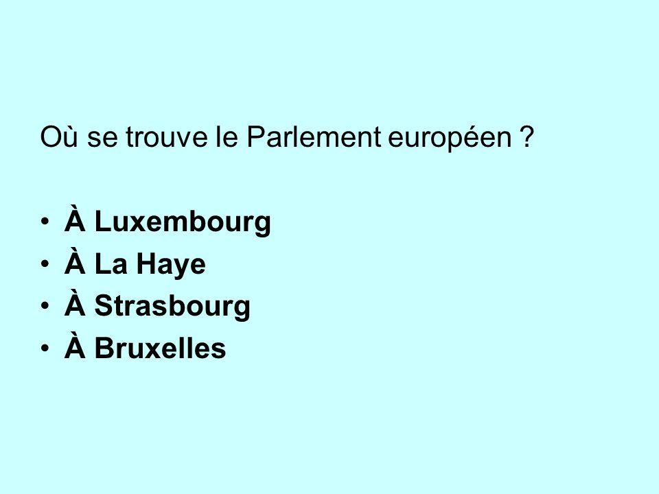 Où se trouve le Parlement européen