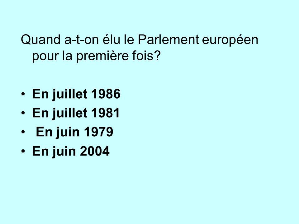 Quand a-t-on élu le Parlement européen pour la première fois