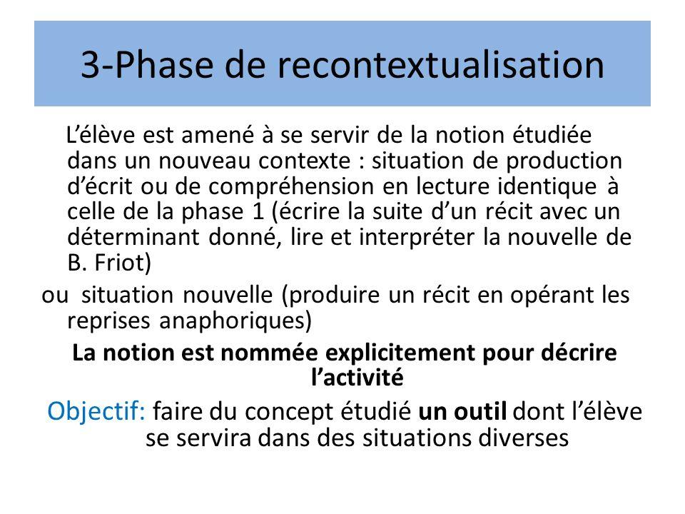 3-Phase de recontextualisation