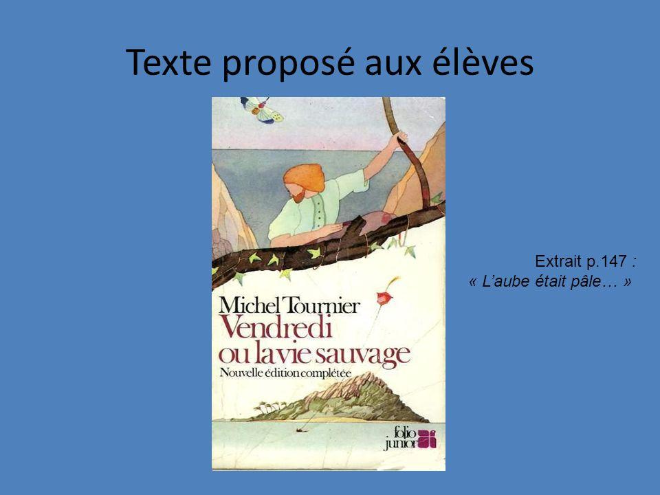 Texte proposé aux élèves
