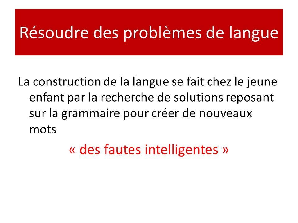 Résoudre des problèmes de langue