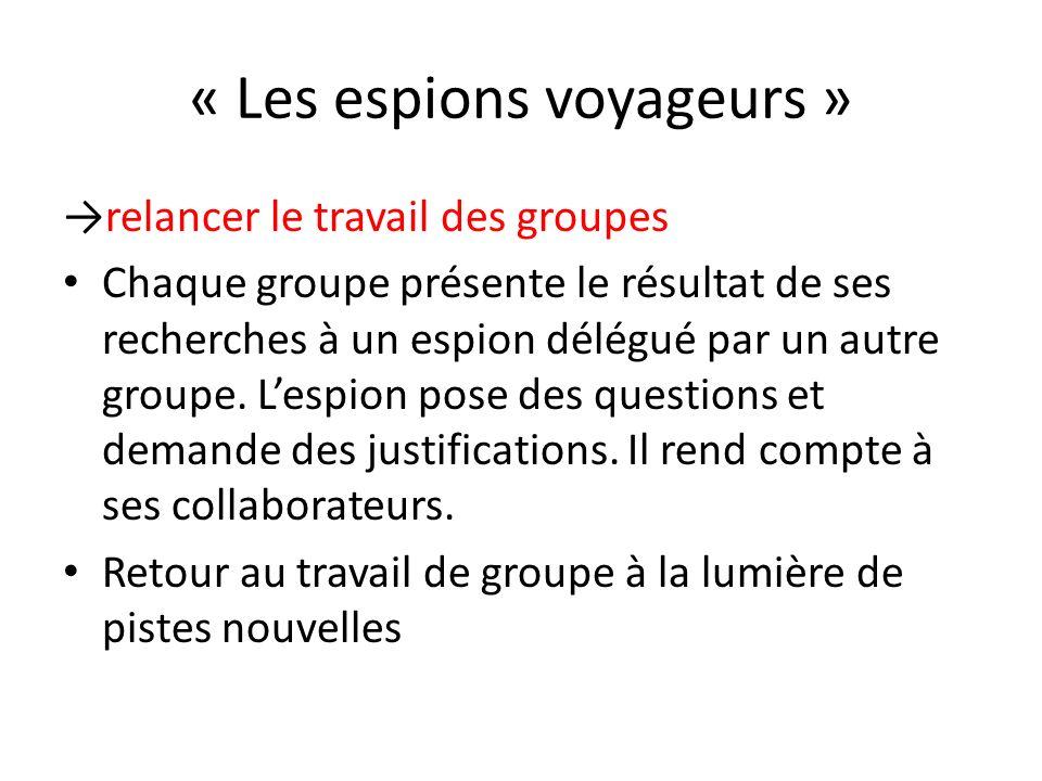 « Les espions voyageurs »