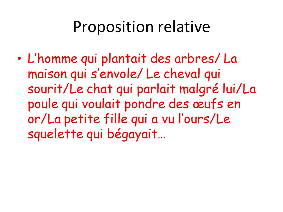 Proposition relative