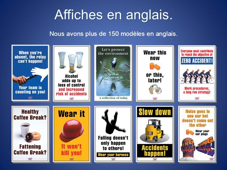 Nous avons plus de 150 modèles en anglais.