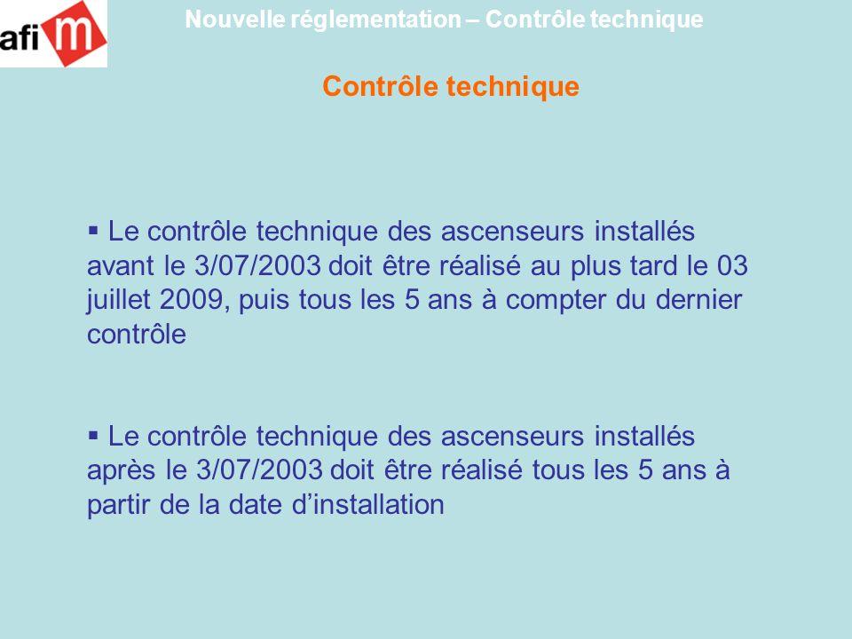 Nouvelle réglementation – Contrôle technique
