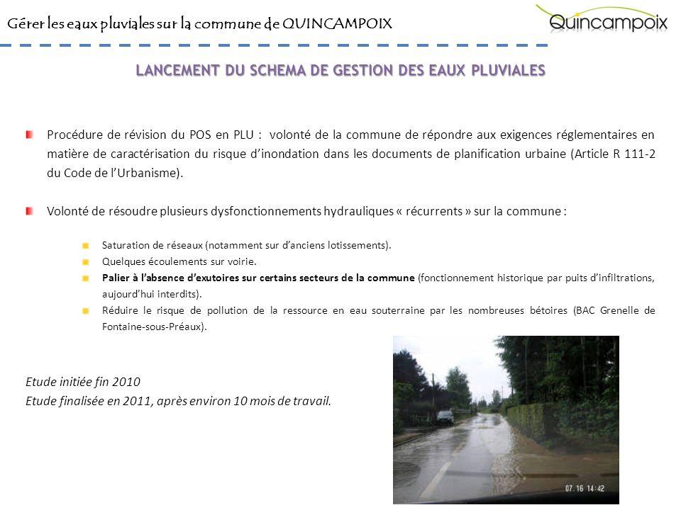 LANCEMENT DU SCHEMA DE GESTION DES EAUX PLUVIALES