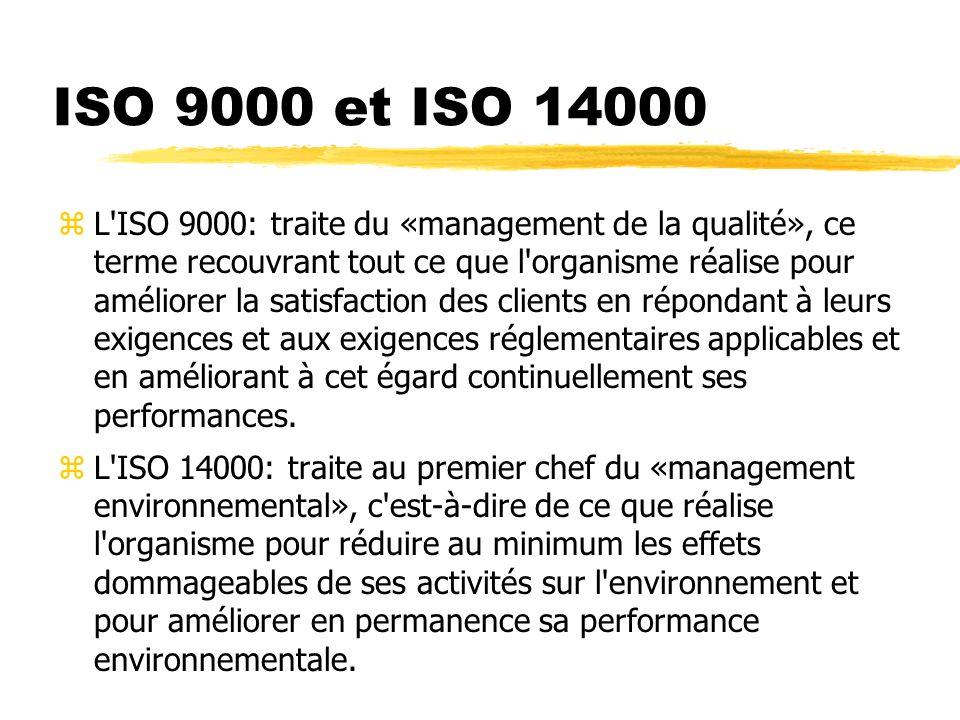 ISO 9000 et ISO 14000