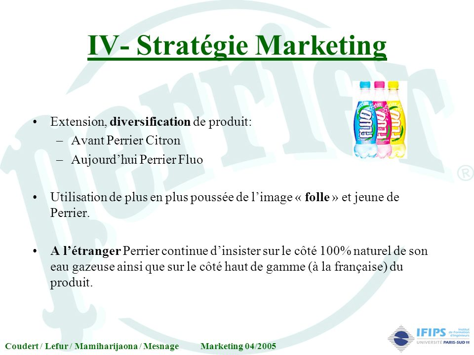 IV- Stratégie Marketing