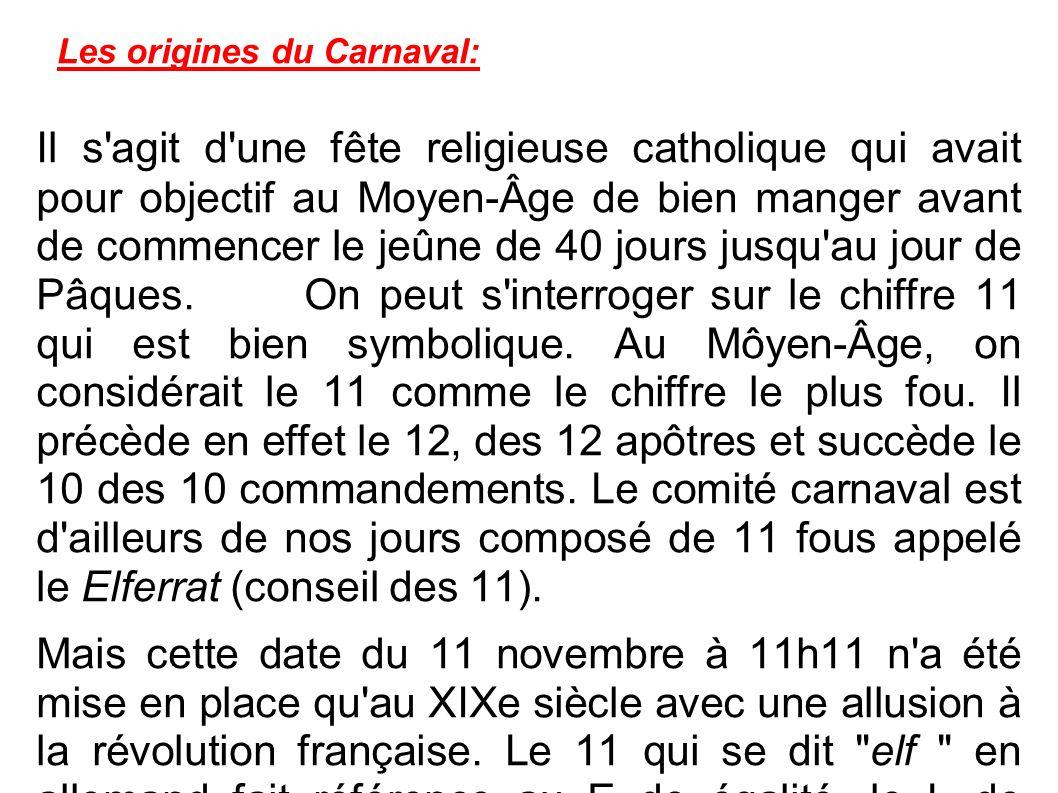 Les origines du Carnaval: