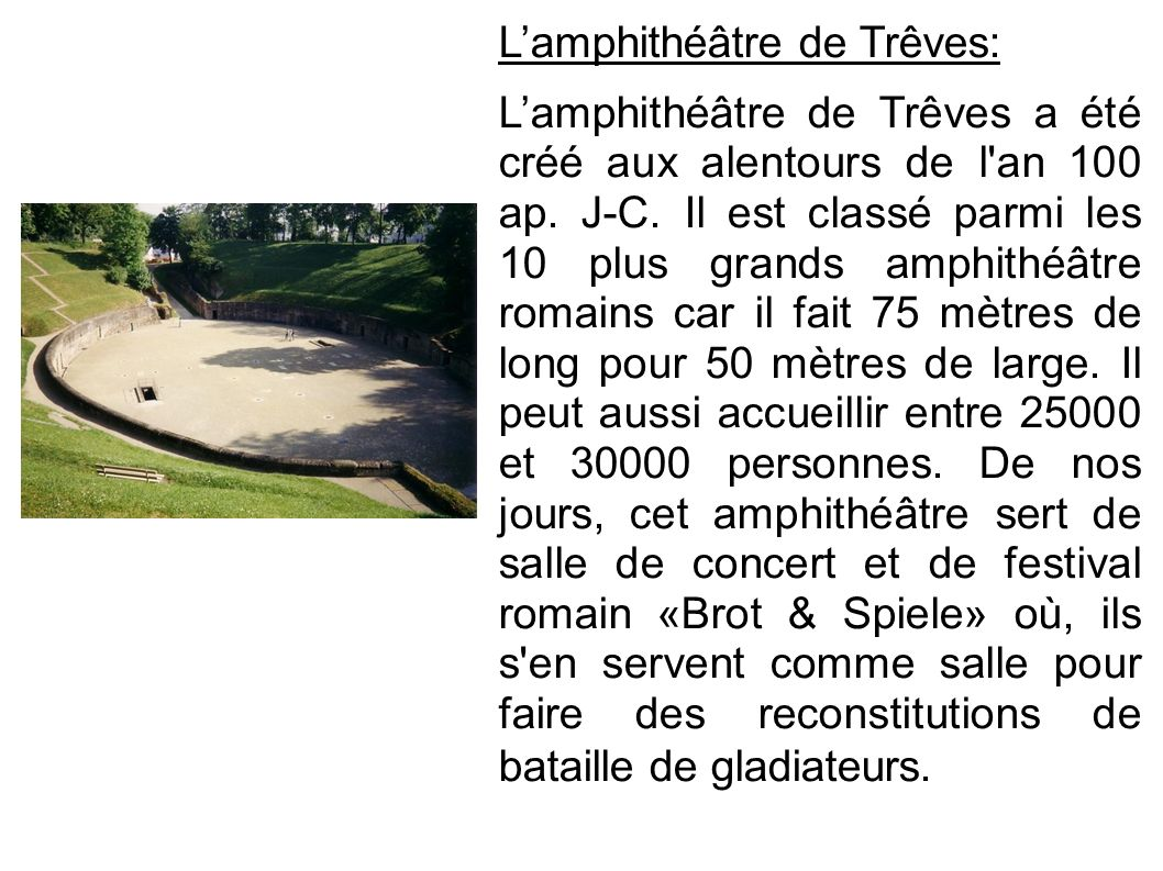 L'amphithéâtre de Trêves: