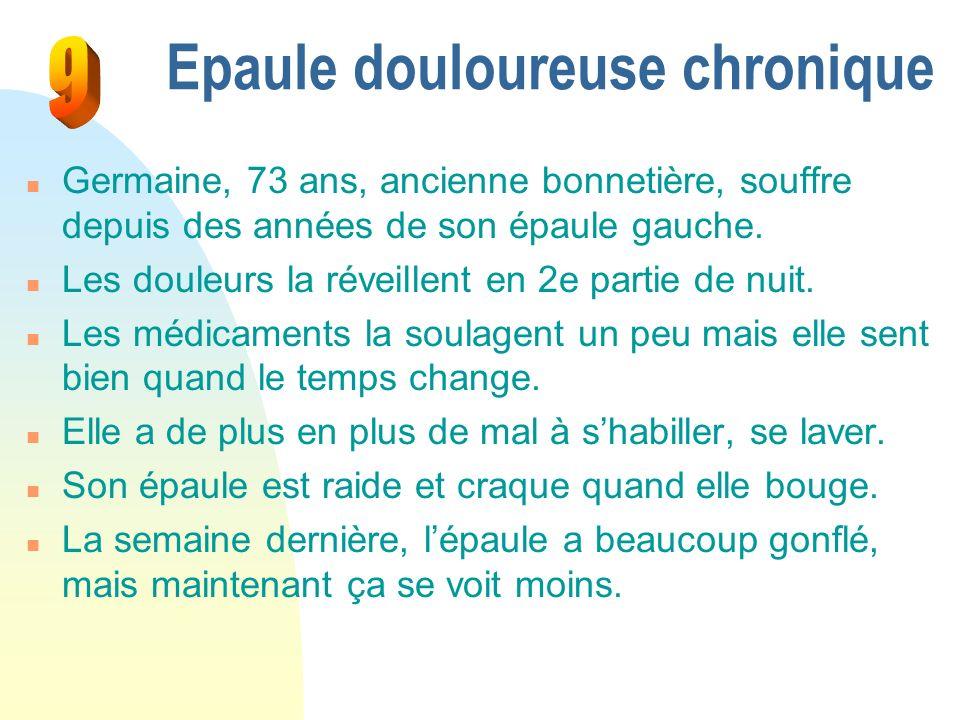 Epaule douloureuse chronique