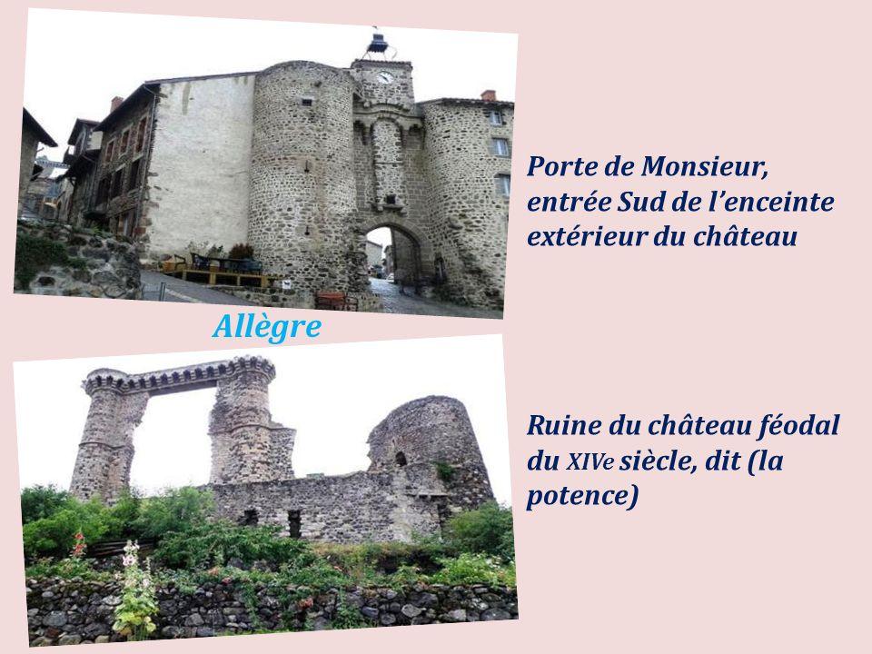 Porte de Monsieur, entrée Sud de l'enceinte extérieur du château