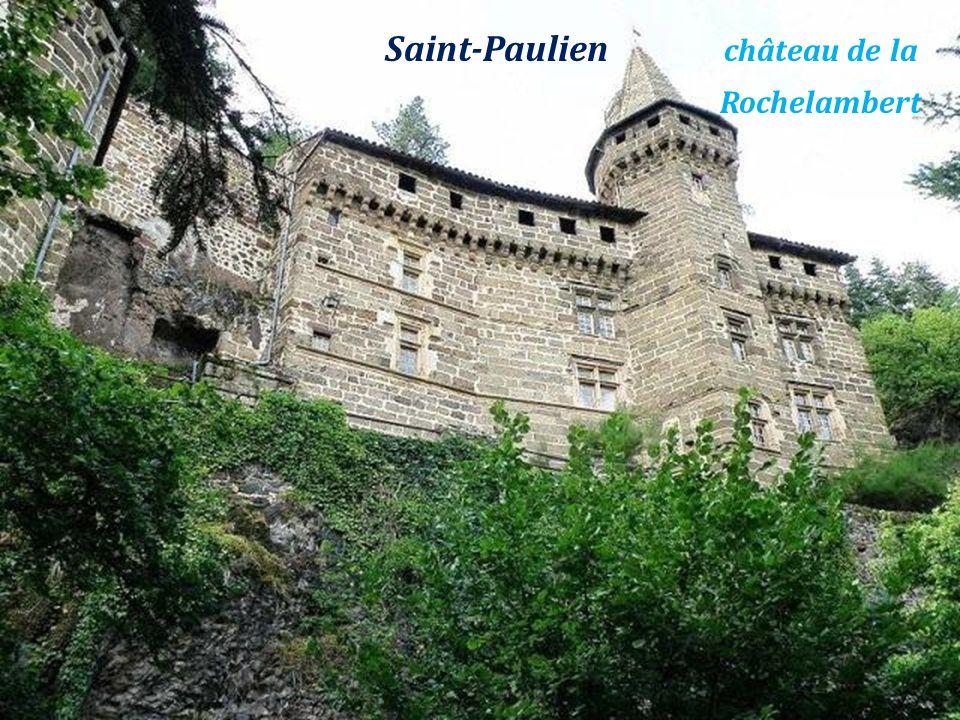 Saint-Paulien château de la . Rochelambert