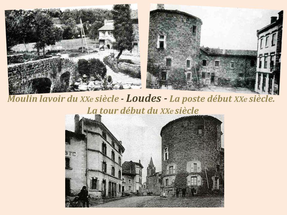 Moulin lavoir du XXe siècle - Loudes - La poste début XXe siècle