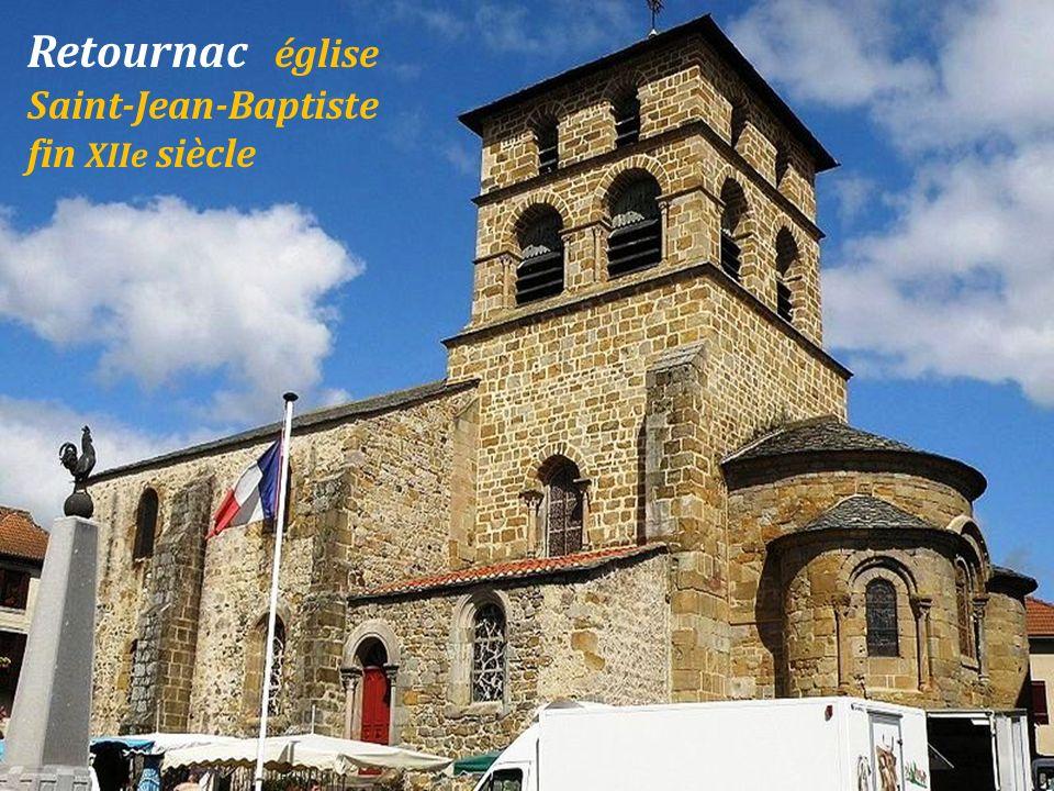 Retournac église Saint-Jean-Baptiste fin XIIe siècle