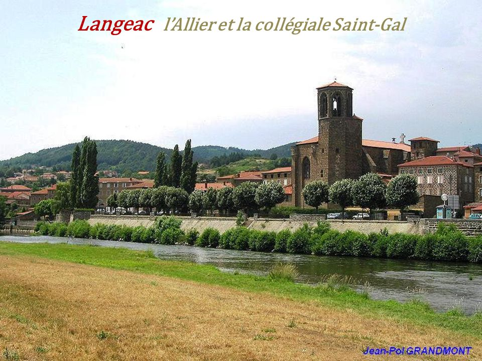 Langeac l'Allier et la collégiale Saint-Gal