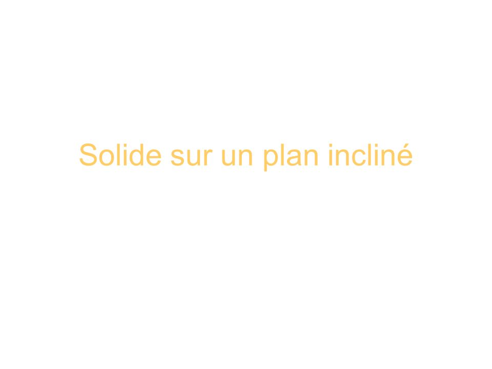 Solide sur un plan incliné